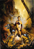 Original Comic Art:Covers, Julie Bell - Heavy Metal May, 1992 Cover Painting Original Art(Heavy Metal, 1992). Julie Bell has created a sizzling and se...