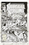 Original Comic Art:Covers, Steven Butler and Mark McKenna - Silver Sable and the Wild Pack #29Cover Original Art (Marvel, 1994). Deep in the bowels of...