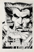 Original Comic Art:Splash Pages, Alan Davis and Paul Neary - Wolverine: Bloodlust, Splash page 2Original Art (Marvel, 1990). A handful of broken glass and f...