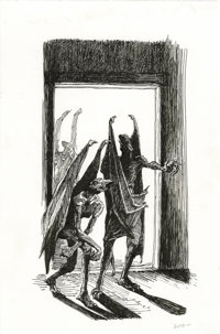 Gary Gianni - The Savage Tales of Solomon Kane Illustration Original Art (Wandering Star, 1998). Robert E. Howard's tale...