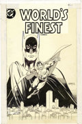 Original Comic Art:Covers, Gil Kane - World's Finest Comics #289 Cover Original Art (DC,1983). After battling crime separately for over a decade, Supe...