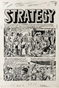 "Original Comic Art:Complete Story, Bernard Krigstein - Valor #1 Complete 6-page Story ""Strategy"" Original Art (EC, 1955). One of the most respected artists fro..."