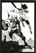 Original Comic Art:Splash Pages, Jim Lee - Batman and Robin Poster Illustration Original Art (2004).Wildstorm founder Jim Lee, who has brought his titanic t...