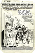 Original Comic Art:Splash Pages, Al Milgrom and Kim DeMulder - West Coast Avengers #2, Splash page 1Original Art (Marvel, 1985). The Vision and Scarlet Witc...