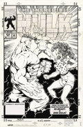 Original Comic Art:Covers, Paul Pelletier and Cam Smith - The Incredible Hulk #412 CoverOriginal Art (Marvel, 1993). Hulk is face to face to face to f...