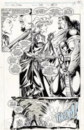 Original Comic Art:Splash Pages, Whilce Portacio and Art Thibert - The Uncanny X-Men #283, Splashpage 25 Original Art (Marvel, 1991). Storm is more determin...