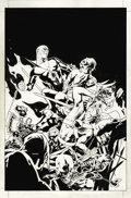 Original Comic Art:Covers, Ryan Sook - Hawkman #36 Cover Original Art (DC, 2005). Deadmanjoins Hawkman and Hawkgirl against a horde of undead soldiers...