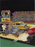 Original Comic Art:Covers, Jake Thompson and George Lemmons - Hot Rod Cartoons #21 CoverOriginal Art (Peterson Publishing, 1968). Jake Thompson and Ge...
