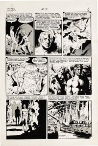 """Wally Wood - Incredible Science Fiction #33, page 6 Original Art (EC, 1956). From the post-apocalyptic yarn """"Big Mo..."""