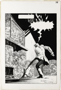 Original Comic Art:Splash Pages, Bernie Wrightson - Freak Show, Splash Page 37 Original Art (HeavyMetal, circa 1982). Bernie Wrightson's detailed inking on ...