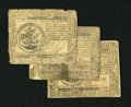 Colonial Notes:Continental Congress Issues, Continental Currency Trio of May 9, 1776 $5 - $6 Very Good-Fine.The $5 grades Very Good, the $6 grades Very Fine with a cor...(Total: 3 notes)