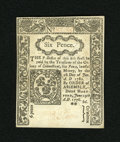 Colonial Notes:Connecticut, Connecticut June 19, 1776 6d CC Cancel Gem New. An utterly superbgem in every sense of the word as the embossing is incredi...