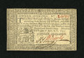 Colonial Notes:Pennsylvania, Pennsylvania April 10, 1777 16s Choice New. A boldly signed andsuperbly embossed example of this tougher large denomination...