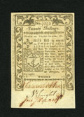 Colonial Notes:Rhode Island, Rhode Island May 1786 20s Gem New. A very well margined and boldlysigned example of this final Rhode Island issue that has ...