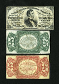 Fractional Currency:Third Issue, Fr. 1291SP Narrow Margin Set 25c Third Issue New. A lovely narrow margin Fessenden set that is certain to please the fussies... (Total: 3 notes)