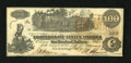 Confederate Notes:1862 Issues, T39 $100 1862. Some ink erosion is noticed. A pencilled Criswellnumber is on the back. Crisp Uncirculated....