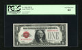 Small Size:Legal Tender Notes, Fr. 1500 $1 1928 Legal Tender Note. PCGS Very Choice New 64.. This note is within 13,000 of the end of this issue. The top m...