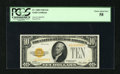 Small Size:Gold Certificates, Fr. 2400 $10 1928 Gold Certificate. PCGS Choice About New 58.. Ample margins and a nice yellow-orange third printing grace t...
