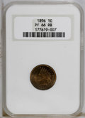 Proof Indian Cents: , 1896 1C PR66 Red and Brown NGC. NGC Census: (8/0). PCGS Population (4/0). Mintage: 1,862. Numismedia Wsl. Price: $875. (#23...
