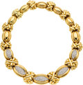 Estate Jewelry:Necklaces, Diamond, Gold Necklace, Hammerman Bros.. ...