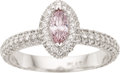 Estate Jewelry:Rings, Fancy Pink Diamond, Diamond, Platinum Ring. ...