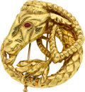 Estate Jewelry:Brooches - Pins, Ruby, Gold Brooch, David Webb. ...