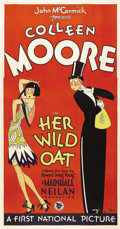"Movie Posters:Comedy, Her Wild Oat (First National, 1927). Three Sheet (41"" X 81""). By1927, Colleen Moore was the top box-office draw in the U.S...."