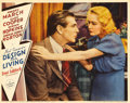 "Movie Posters:Comedy, Design for Living (Paramount, 1933). Lobby Card (11"" X 14""). GaryCooper and Miriam Hopkins appear in this scene from writer..."