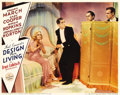 "Movie Posters:Comedy, Design for Living (Paramount, 1933). Lobby Card (11"" X 14""). It'shard to believe that this gorgeous scene card with three t..."