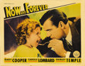 "Movie Posters:Drama, Now and Forever (Paramount, 1934). Lobby Card (11"" X 14""). Gary Cooper portrays a jewel thief who's down on his luck. Carole..."