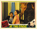 "Movie Posters:Comedy, At the Circus (MGM, 1939). Lobby Card (11"" X 14""). Groucho Marx, asJ. Cheever Loophole, tries to woo Margaret Dumont (as us..."