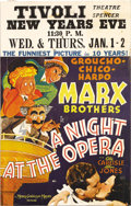 "Movie Posters:Comedy, A Night at the Opera (MGM, 1935). Window Card (14"" X 22""). In oneof the Marx Brothers' zaniest movies of their career, the ..."
