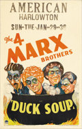 """Movie Posters:Comedy, Duck Soup (Paramount, 1933). Window Card (14"""" X 22""""). """"Duck Soup""""is indisputably the Marx Brothers' greatest film. It is th..."""