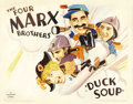 "Movie Posters:Comedy, Duck Soup (Paramount, 1933). Half Sheet (22"" X 28"") Style B.Groucho Marx as Rufus T. Firefly is named the dictator of Freed..."