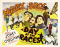 "Movie Posters:Comedy, A Day at the Races (MGM, 1937). Half Sheet (22"" X 28"") Style B. Intheir second film for MGM, Groucho, Harpo and Chico once ..."