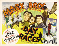 """A Day at the Races (MGM, 1937). Half Sheet (22"""" X 28"""") Style B. In their second film for MGM, Groucho, Harpo a..."""