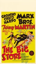 "Movie Posters:Comedy, The Big Store (MGM, 1941). Midget Window Card (8"" X 14""). Greatmidget window card featuring Hirschfeld caricature art of th..."