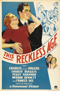 "This Reckless Age (Paramount, 1932). One Sheet (27"" X 41""). Beautiful stone litho poster for this early sound..."