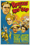"""Movie Posters:Comedy, Ruggles of Red Gap (Paramount, R-1941). One Sheet (27"""" X 41""""). Thisbeautiful poster for this Charles Laughton-Charlie Ruggl..."""