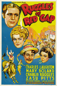 """Ruggles of Red Gap (Paramount, R-1941). One Sheet (27"""" X 41""""). This beautiful poster for this Charles Laughton..."""