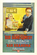 "Movie Posters:Comedy, Ask Grandma (Pathe' Exchange Inc., 1925). One Sheet (27"" X 41"").Mickey Daniels is set free from the boring routine of his o..."