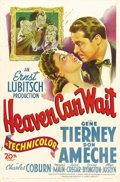 """Movie Posters:Comedy, Heaven Can Wait (20th Century Fox, 1943). One Sheet (27"""" X 41"""").Ernst Lubitsch directs this excellent comedy/fantasy starri..."""