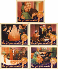 """I've Got Your Number (Warner Brothers, 1934). Lobby Cards (5) (11"""" X 14""""). Joan Blondell is a fast-talking tel..."""