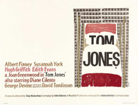 "Tom Jones (United Artists, 1963). British Quad (30"" X 40"") Style B. Albert Finney became a huge star with the..."
