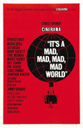 "Movie Posters:Comedy, It's a Mad, Mad, Mad, Mad World (United Artists, 1963). One Sheet(27"" X 41""). An all-star cast is assembled to create one o..."
