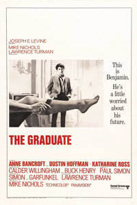 "The Graduate (United Artists, 1968). International One Sheet (27"" X 41""). Dustin Hoffman became an overnight s..."