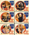 """Movie Posters:Comedy, Week-End Marriage (Warner Brothers, 1932). Lobby Cards (6) (11"""" X14""""). This picture, which focused on sexual politics of th...(Total: 6 Items)"""