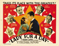 """Movie Posters:Comedy, Lady for a Day (Columbia, 1933). Title Lobby Card and Lobby Cards(2) (11"""" X 14""""). Great title card and portrait card featur...(Total: 3 Items)"""