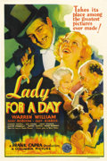 "Movie Posters:Comedy, Lady for a Day (Columbia, 1933). One Sheet (27"" X 41""). Frank Capra provided his usual flair for social comedy to this pictu..."