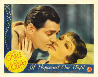 "It Happened One Night (Columbia, 1934). Lobby Card (11"" X 14""). It swept the Oscars in the year of its release..."